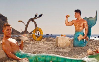 gay advert sea beach