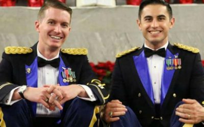 gay couple marriage wedding soldiers